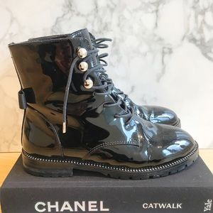 EDGEII Patent Combat boots with crystals